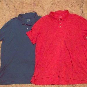 Croft & Barrow Easy Care Polos : Blue & Orange